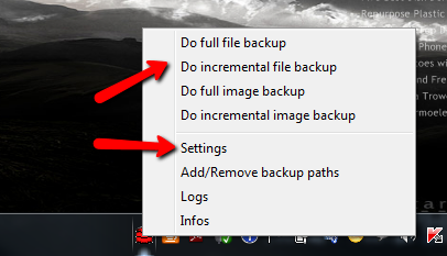 windows backup utility