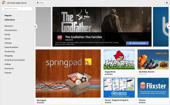 Google Updates Chrome New Tab Page & Web App Store [News] web store new look e1319568473444