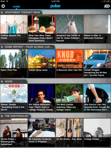 1051   Pulse: News Reader App With Tiled Layout (iOS/Android)