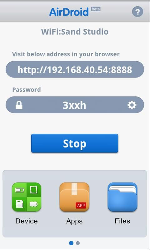 control android from browser