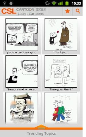CSL   Cartoon News: Gathers The Top Political Cartoons From The Web [Android 1.5+]
