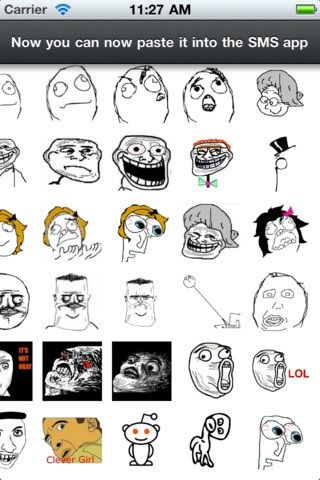 rage faces for sms