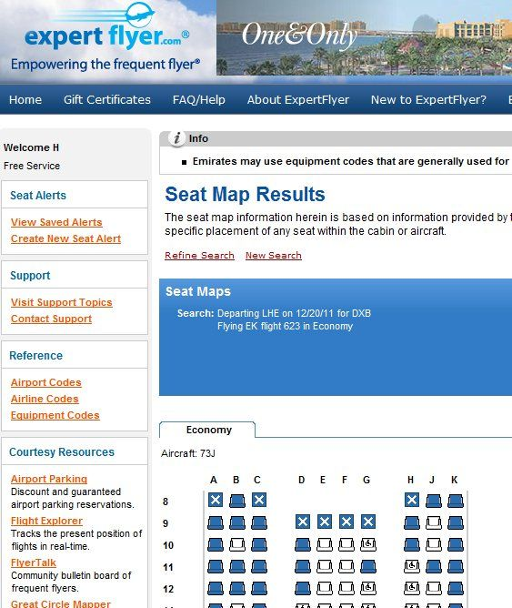 airplane seat availability