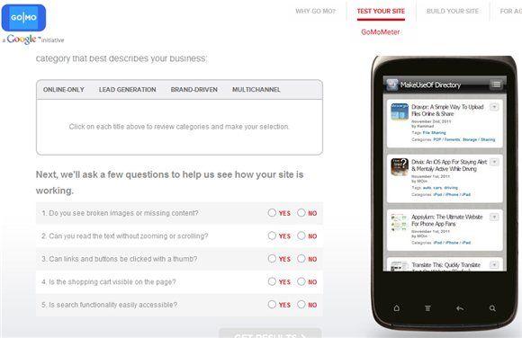 mobile website tester