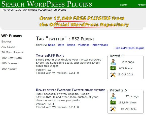 finding wordpress plugins