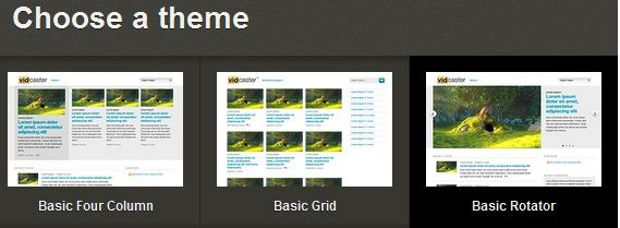 Theme   VidCaster: Quickly Create A Website For Your Youtube Videos