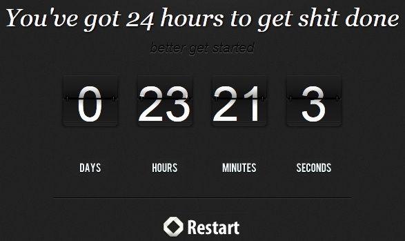 24 hour countdown clock