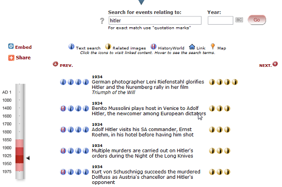 search historical events