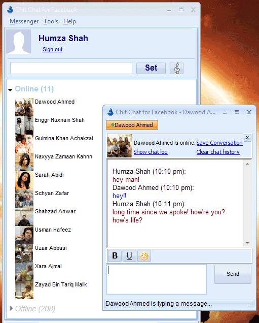 desktop instant messaging client
