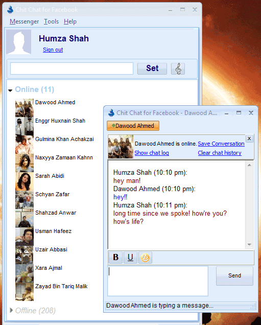 desktop instant messaging client