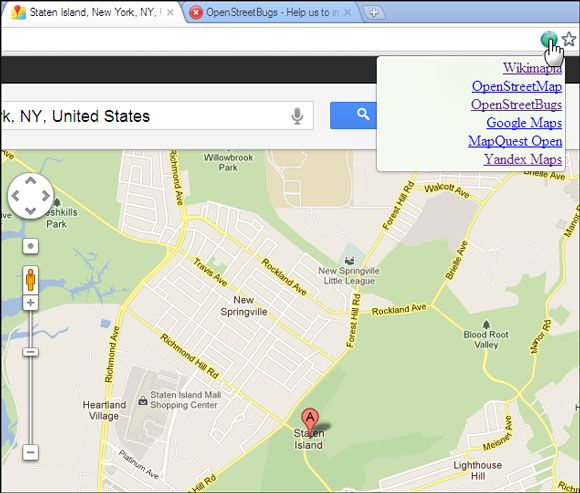 google map chrome extension