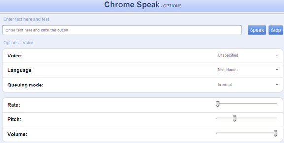chrome speak