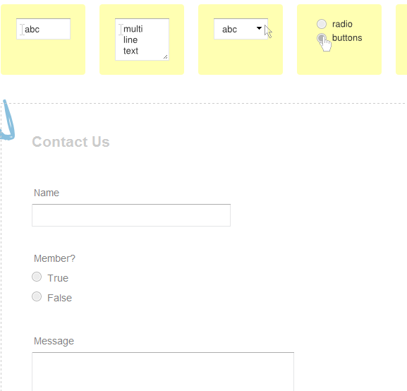 create web forms instantly