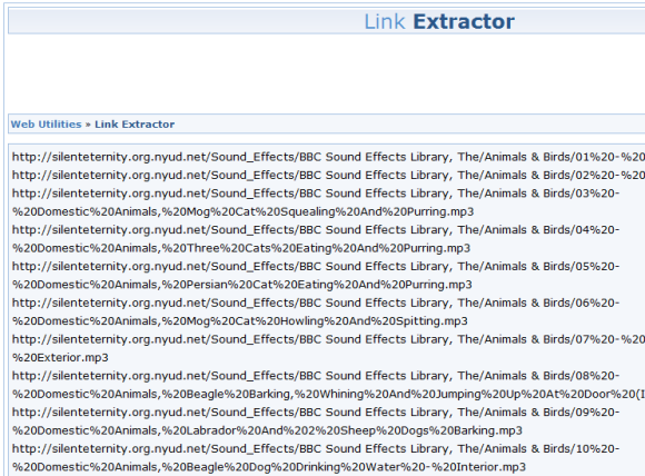 How To Extract Links For Mass Image Or File Downloads With