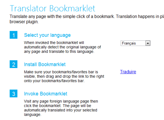 quickly translate webpage