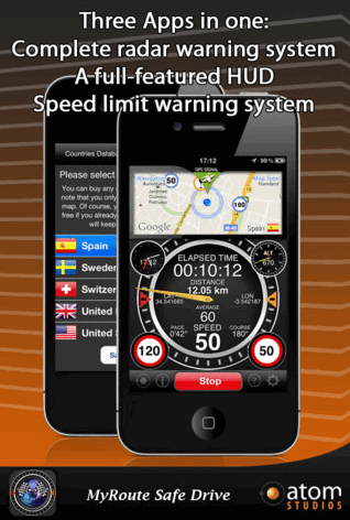 myroutesafedrive1   MyRoute Safe Drive: Speed Limit Alert App [iPhone]