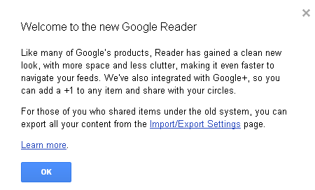 Google Reader Receives Update - Adds Google+ & New Design [News] reader