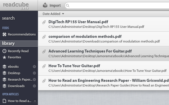 ReadCube: A PDF Reading Client For People Conducting Research