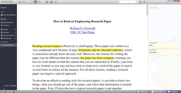 ReadCube: A PDF Reading Client For People Conducting Research screen11