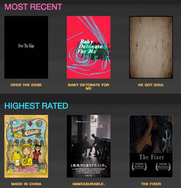 online movie competitions