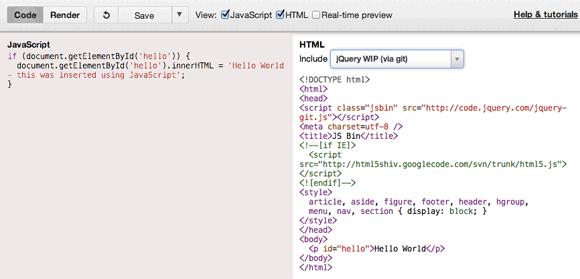test and debug code