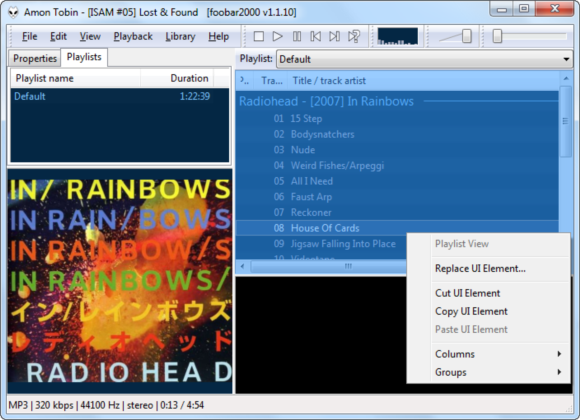 Play Music Like An Audiophile With Foobar2000 [Windows] 2011 12 23 14h28 28