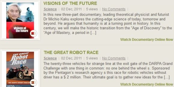 various documentaries