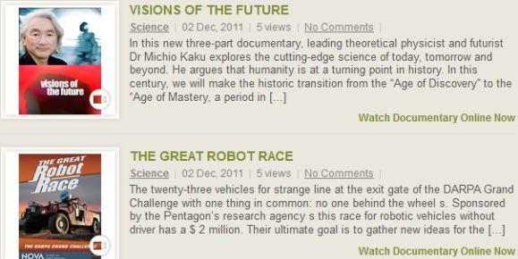 various documentaries