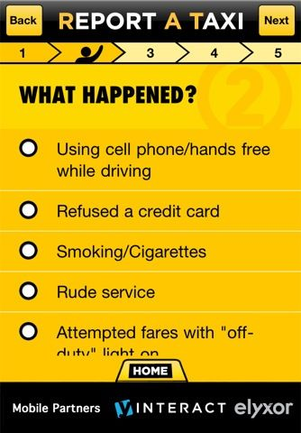 ReportATaxi: Report Bad Cab Drivers Instantly to the Taxi & Limousine Commission [iOS] Incident1