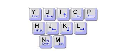 control cursor with keyboard