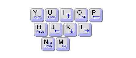 control cursor with keyboard