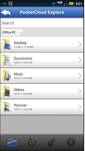 manage files with android