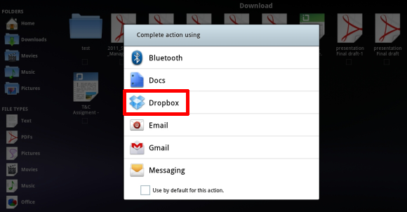 dropbox on android