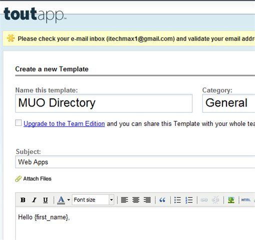 ToutApp   ToutApp: A Simple Email Management & Tracking Tool
