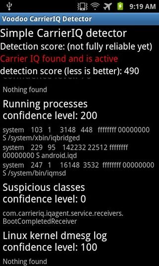 detect carrier iq
