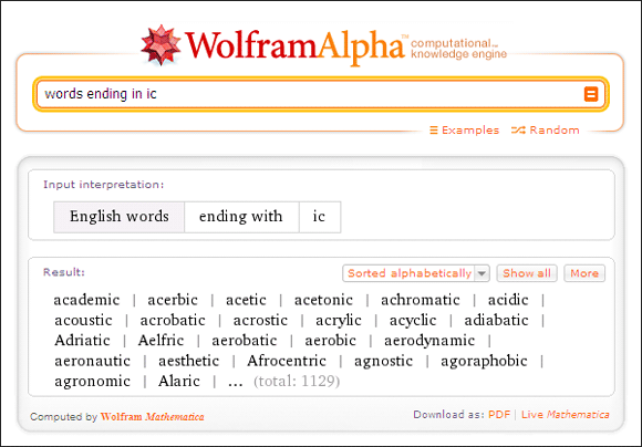 10 Cool Uses Of Wolfram Alpha If You Read And Write In The English Language Wolfram Alpha02
