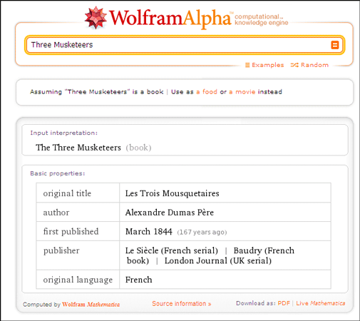 10 Cool Uses Of Wolfram Alpha If You Read And Write In The English Language Wolfram Alpha05