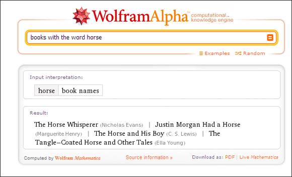 10 Cool Uses Of Wolfram Alpha If You Read And Write In The English Language Wolfram Alpha07