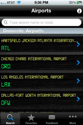 airport monitor 1   Airport Monitor Lite: Track Flight Arrivals & Departures On Your iPhone