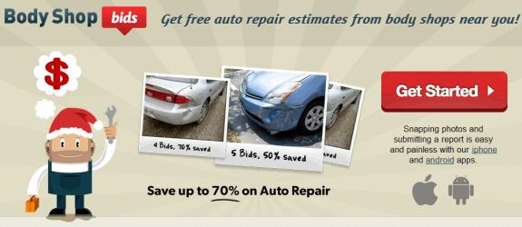 car damage repair quote