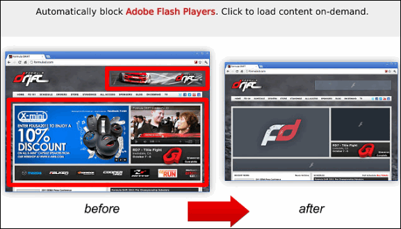 block flash chrome