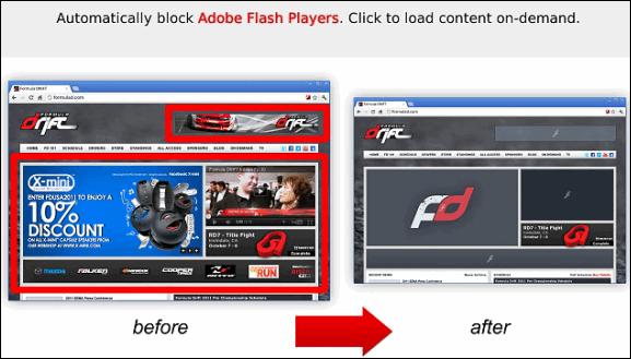 block flash chrome