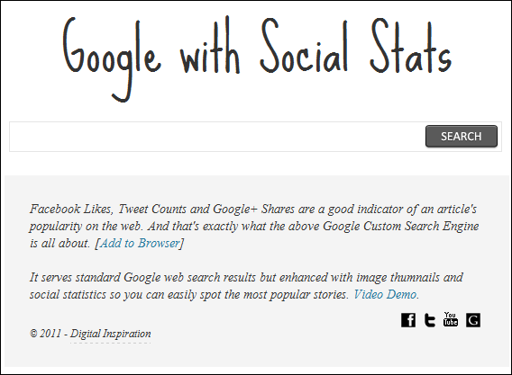 google search results social media