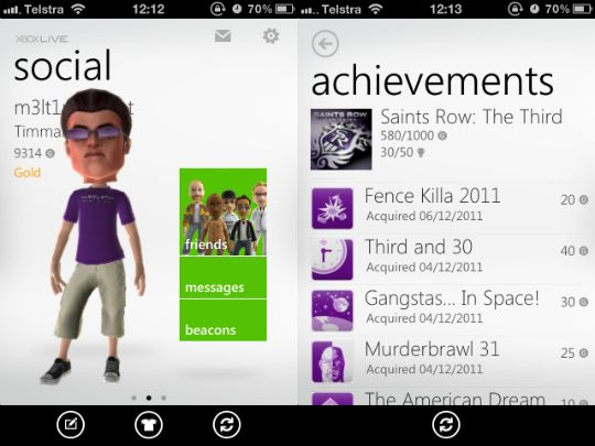 Xbox LIVE Apps Now Available For Windows Phone 7 & iOS [News] my xbox live iphone app