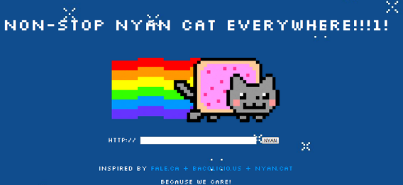 nyan cat web page