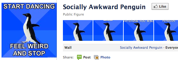 The 4 Stages of Social Networking With Old Friends sociallyawkwardpenguin