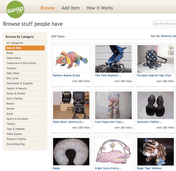 swap 1   Swap: Trade Stuff For Things You Want Online