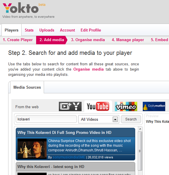 collect videos from the web