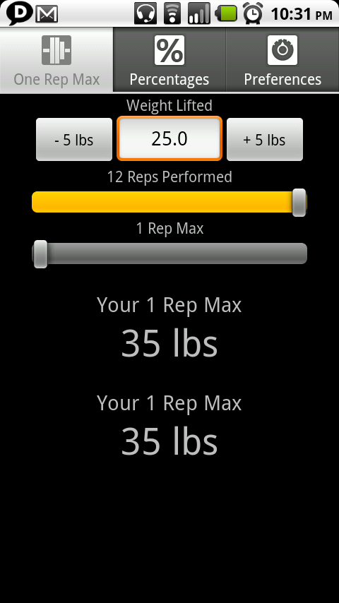 weight training apps for android