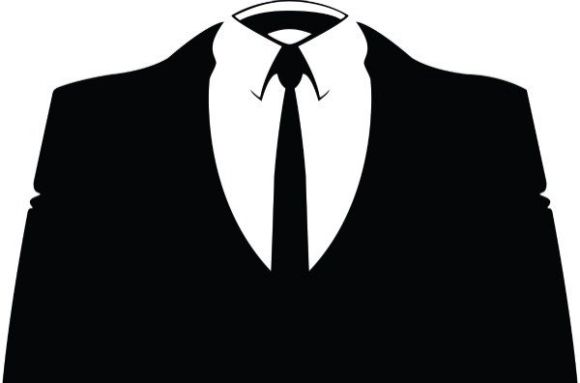 Why MegaUpload, And Who's Next? Anonymous Suit Logo